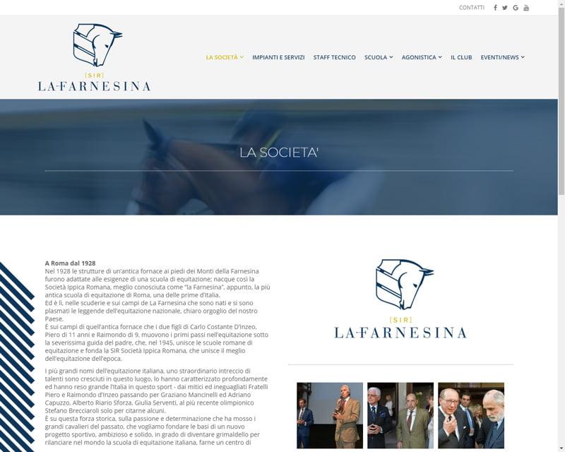 LA FARNESINA site page
